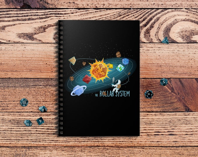 Rollar System spiralbook | Space | Dnd gift | GM | Dungeons & Dragons | Dice | Natural 20