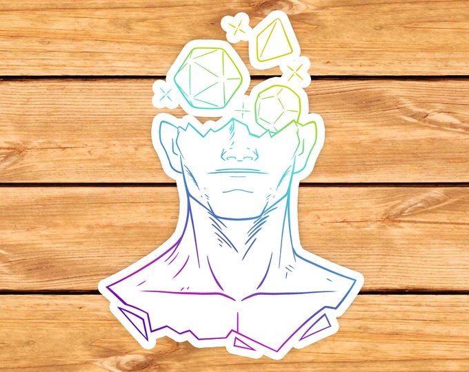 Head in the Game Sticker | Polydice | Dnd gift | d20 | dungeons and dragons