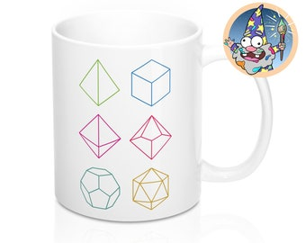 Minimal dnd Mug | Dnd gift | GM | Dungeons & Dragons | Dice | DM gift