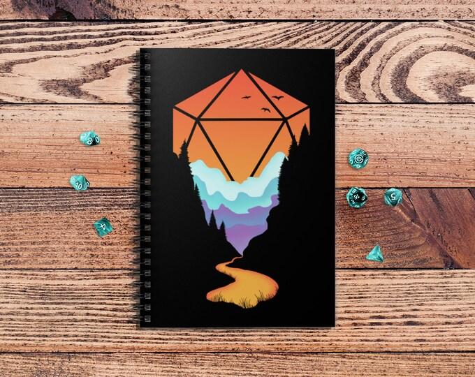 Rainbow d20 spiralbook | Minimal dnd | Dnd gift | GM | Dungeons & Dragons | Dice | Natural 20