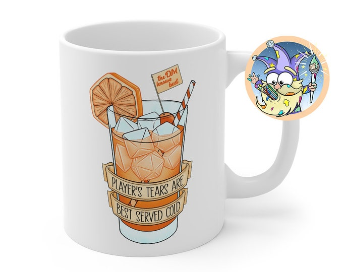 Ice cold player's tears mug | DM gift | Dungeons and Dragons | DM Gift | Gift for geeks | DnD | Dice