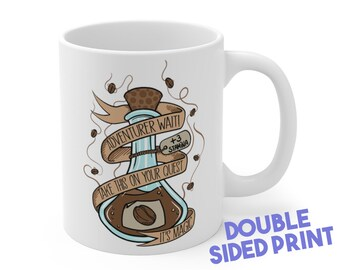 Coffee Potion Mug | Dnd gift | GM | Dungeons & Dragons | Dice | DM gift