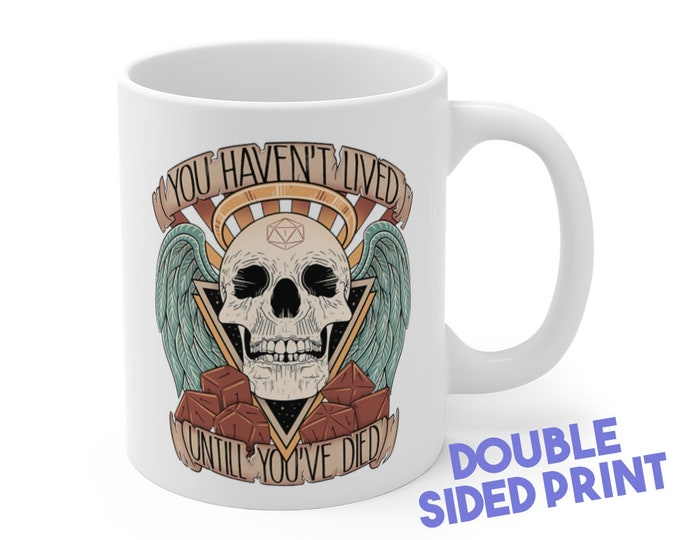 Honor the dead characteres Mug | Dnd gift | GM | Dungeons & Dragons | Dice | DM gift