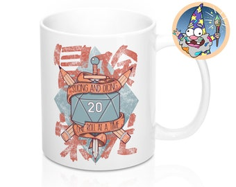 Slicing and Dicing Mug | Dnd gift | GM | Dungeons & Dragons | Dice | DM gift