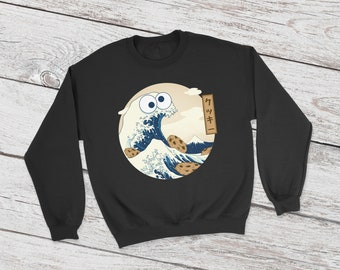 Cookiegana Wave sweatshirt | Cookie Monster | DnD | Dungeons Dragons | rpg gifts | D&D | Dice | print