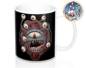 Beholder Mug | Dnd gift | GM | Dungeons & Dragons | Dice | DM gift
