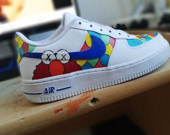 Kaws X Sesame Street Air Force ones.