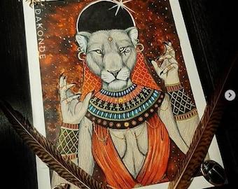 Sekhmet Egyptian Godess Print