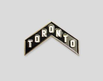Toronto Chevron Gold Plated Enamel Pin