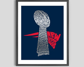 New England Patriots SuperBowl LIII Poster, New England Patriots Superbowl Art, Patriots Poster, Patriots Art, Tom Brady art