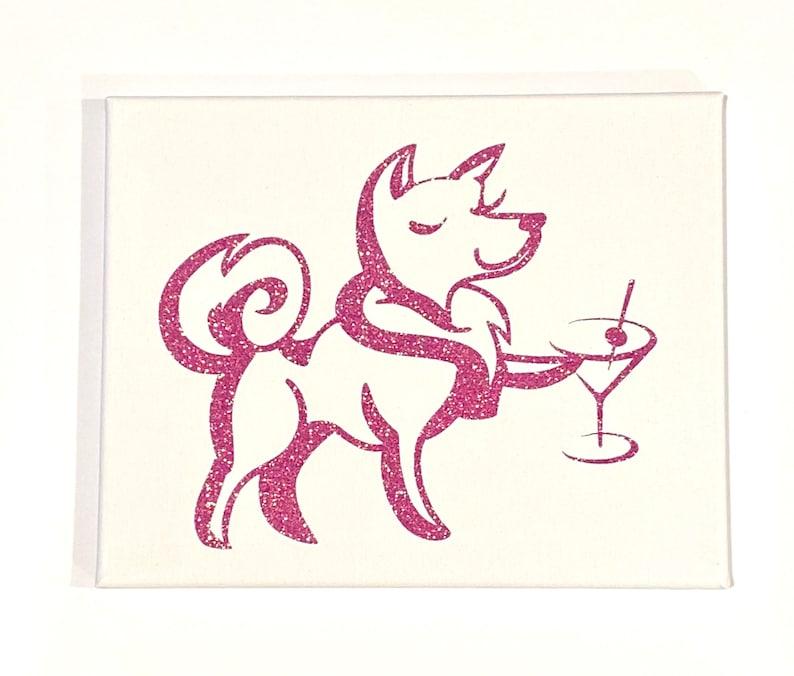 home decor Bar decor Fancy Dog dog with cocktail home bar