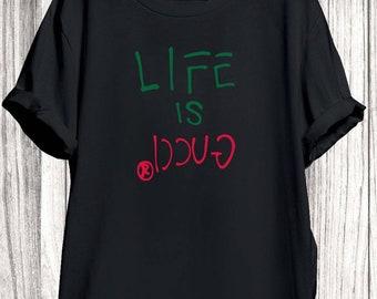 58c6d130a08dd5 Gucci Shirt T-shirt, Gucci Life Is Shirt, Gucci Tshirt For Men Women, Gucci  Shirt, Gucci Shirt, Gucci Clothing, Designer Tshirt
