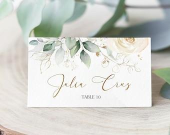 Editable Minimalist Name Card Digital DOWNLOAD Printable Blush Seating Card Escort Card #PRIS Wedding Place Card Template Pink Floral