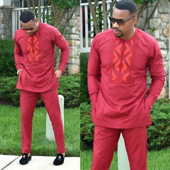 African shirt and pant set African men/'s shirt African wedding suit African dress African prom