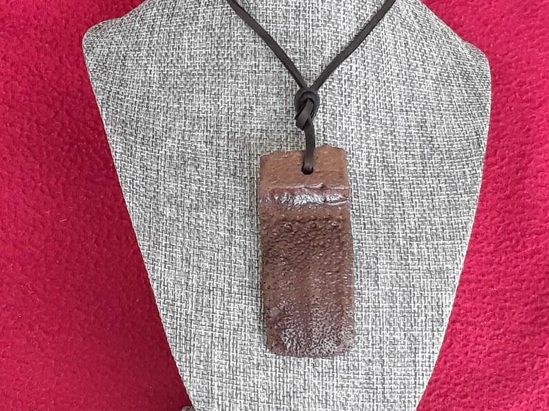 Fossil Giant Armadillo Mobile Scute Necklace