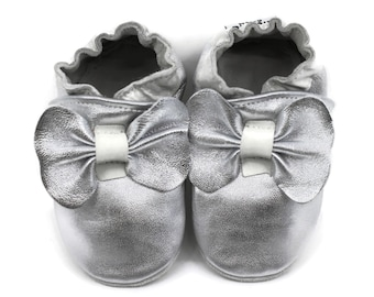 Silver crib shoes | Etsy