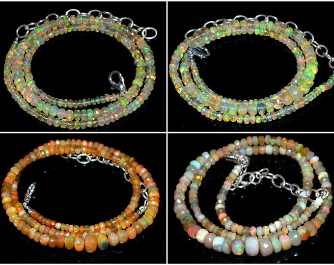 Opal Cut Beads Necklace