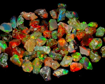 134 CRT AAA quality natural earth mine Ethiopian opal raw rough gemstone extra fine quality unheated untreated welo opal rock material #B8