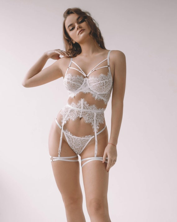 Bridal lingerie, Wedding lingerie, Wedding gift, Honeymoon lingerie, see  through panties, erotic lingerie, sexy lingerie, sheer lingerie