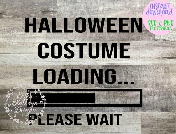 Halloween Costume Loading Svg