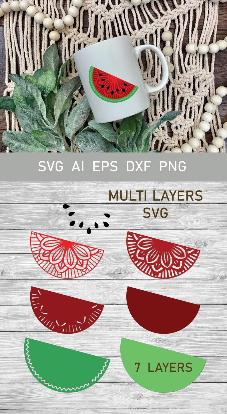 Download Multi Layer SVG Watermelon Half Mandala SVG 3d Layered | Etsy