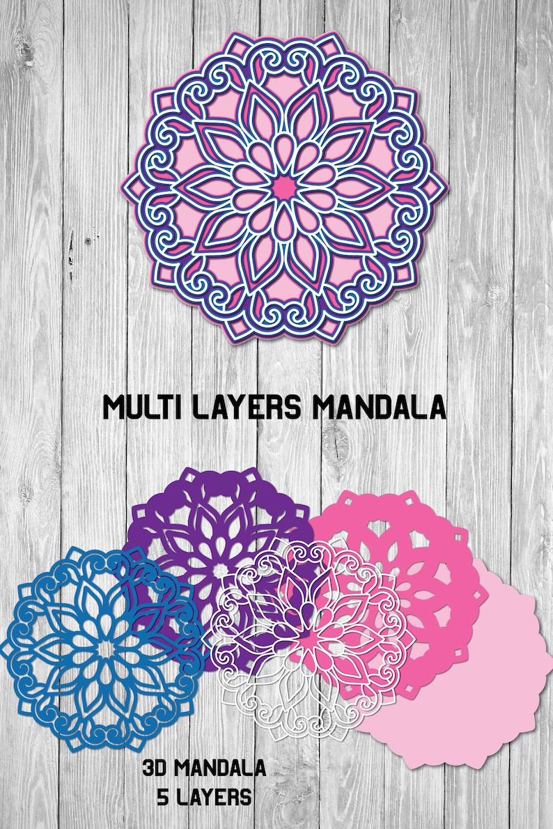 Download Mandala SVG 3d Layered Multi Layer Floral Mandala SVG 5 | Etsy