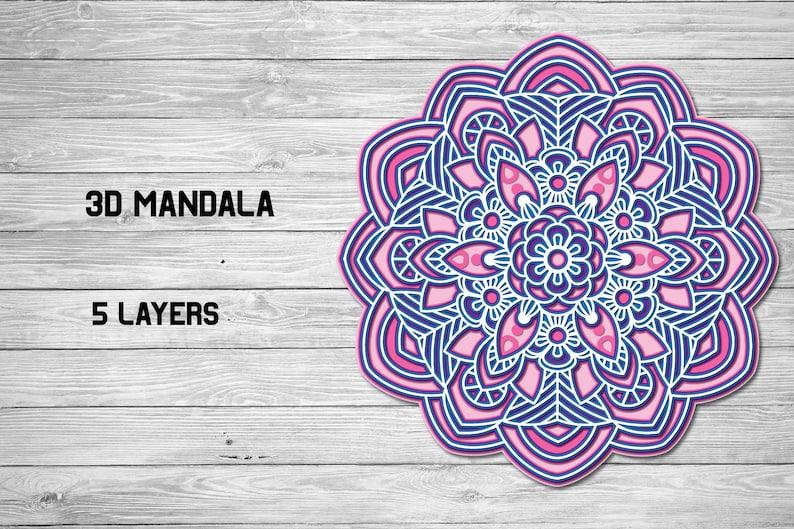Download Multi Layer SVG 3d Layered Mandala SVG Cut File 5 Layers ...