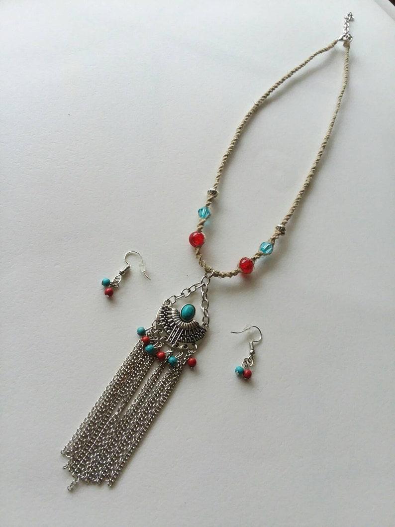 Tribal Necklace /& Earrings Set