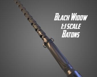 AVENGERS infinity war Black Widow électrique personnel arme Bâton Stick Cosplay Prop