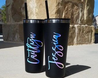 Personalized Tumbler with Straw, Bridesmaid Tumbler, Bridesmaid Gift, Insulated Tumbler, Bridal Party, Bridesmaid Proposal