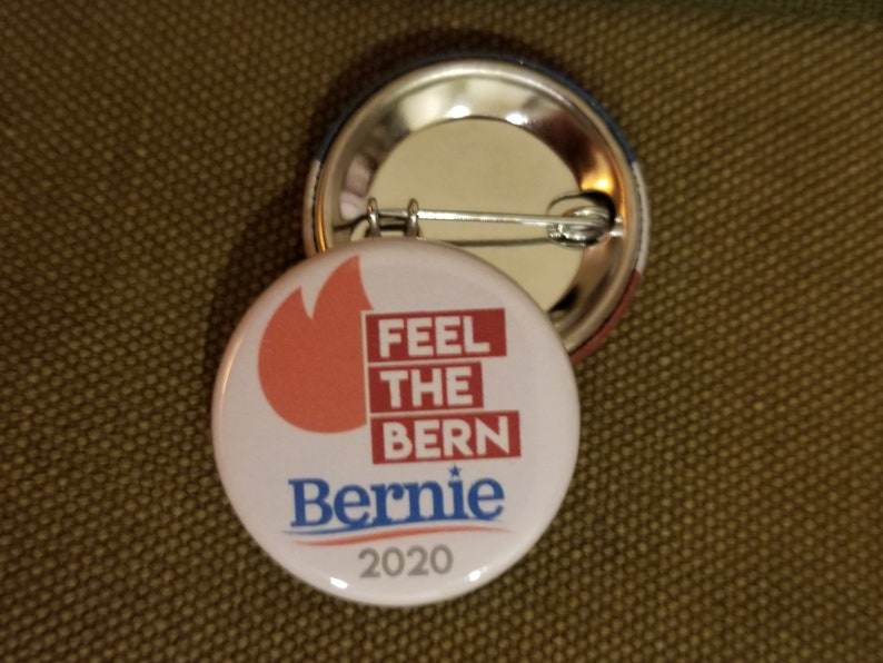 Set of 4 Bern It All Bernie Sanders Democrat Metal Craft Sewing Buttons