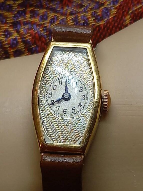 Women's artdeco wristwatch, unique vintage classic