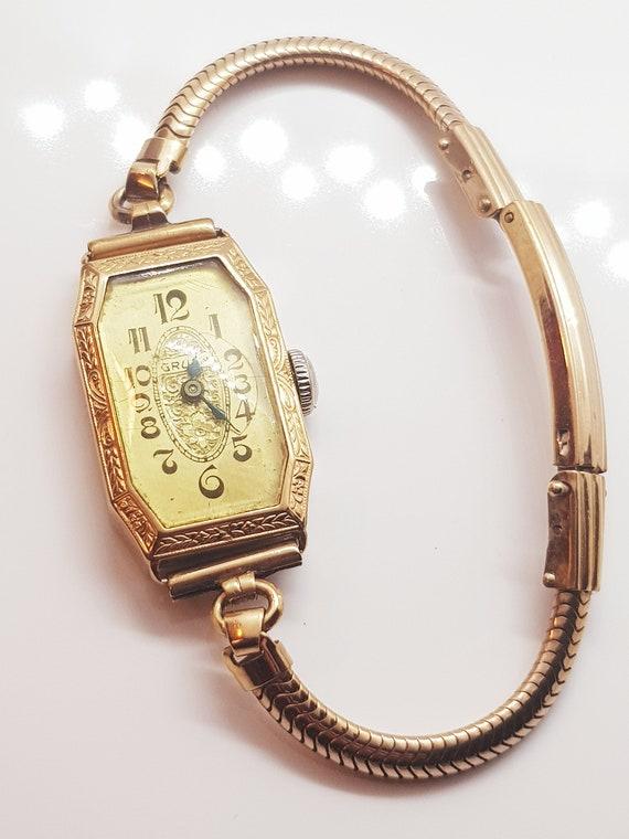 Women's artdeco Gruen wristwatch, beautiful gift i