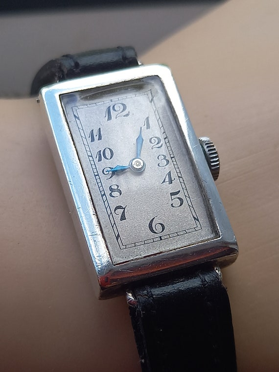 Women's antique artdeco sterling silver wristwatch
