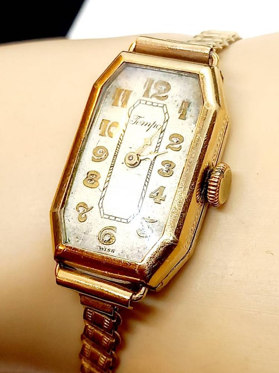Women's geometric cased artdeco wristwatch, unique