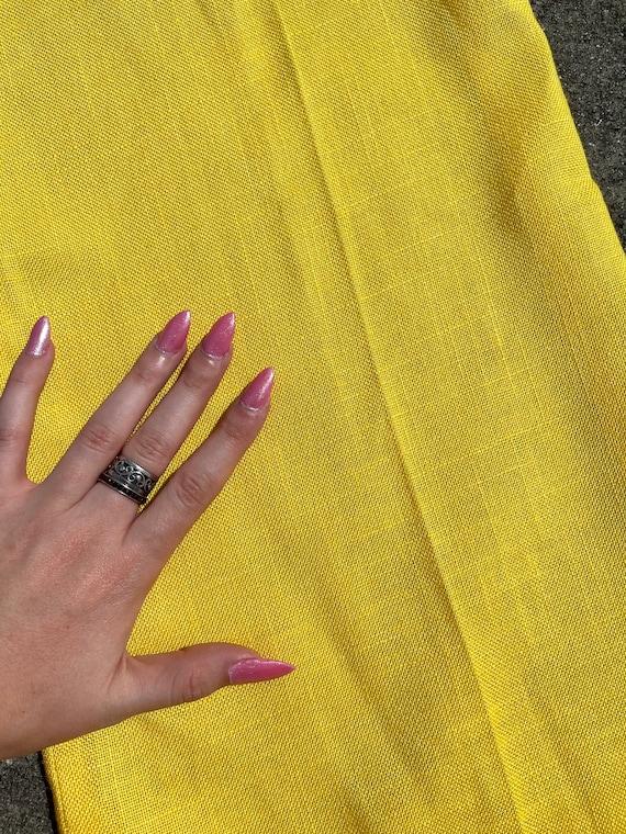 Vintage 70's yellow bell bottom pants // 70's fla… - image 5