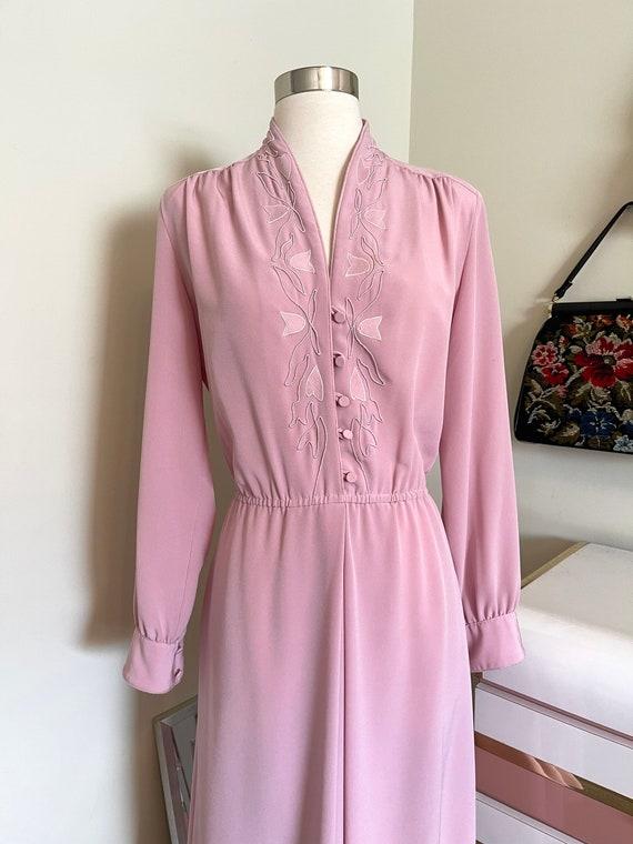Vintage 1980's Lilli Ann pink dress - image 2