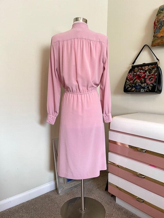 Vintage 1980's Lilli Ann pink dress - image 4