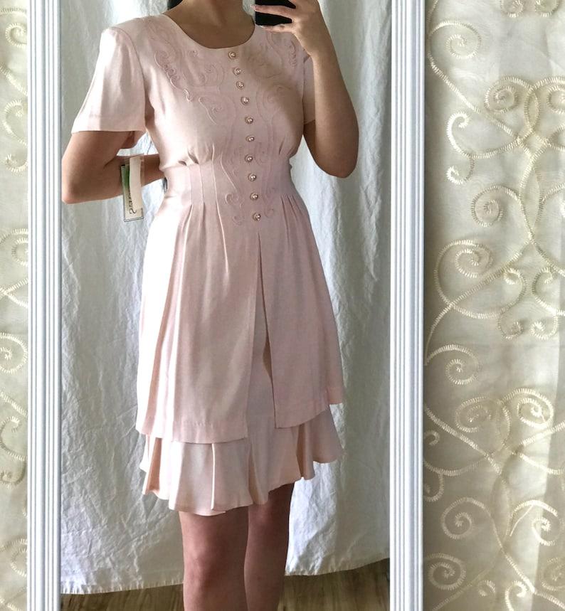 Deadstock Vintage 80/'s Pink Dress