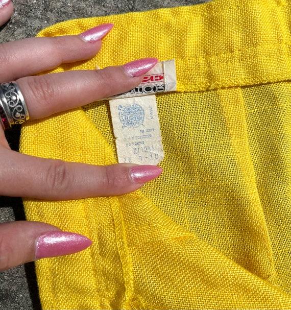 Vintage 70's yellow bell bottom pants // 70's fla… - image 7