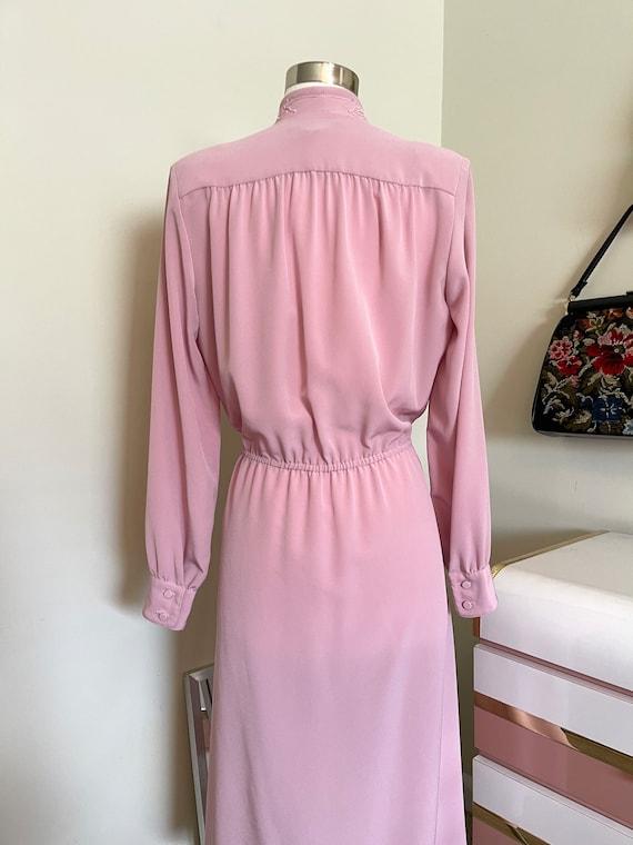 Vintage 1980's Lilli Ann pink dress - image 5
