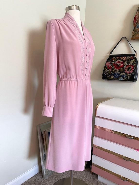 Vintage 1980's Lilli Ann pink dress - image 3
