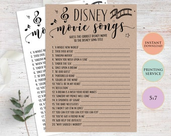 photograph relating to Guess the Disney Movie Song Printable titled Wager disney tune Etsy