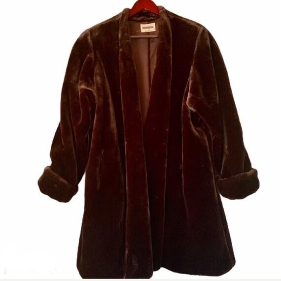 Donnybrook Coffee Brown Faux Fur Coat