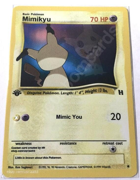 Mimikyu//mimigma-EXTENDED ART CUSTOM Pokemon Card