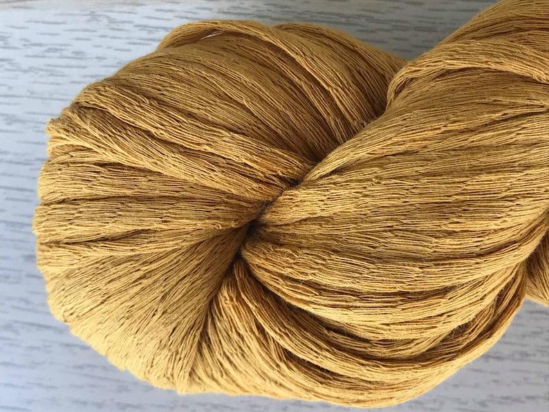 Ochre  Wax Cotton Yarn