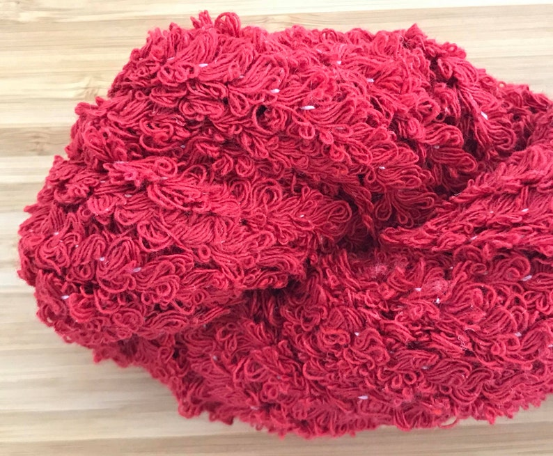 Red Boucle Cotton Yarn