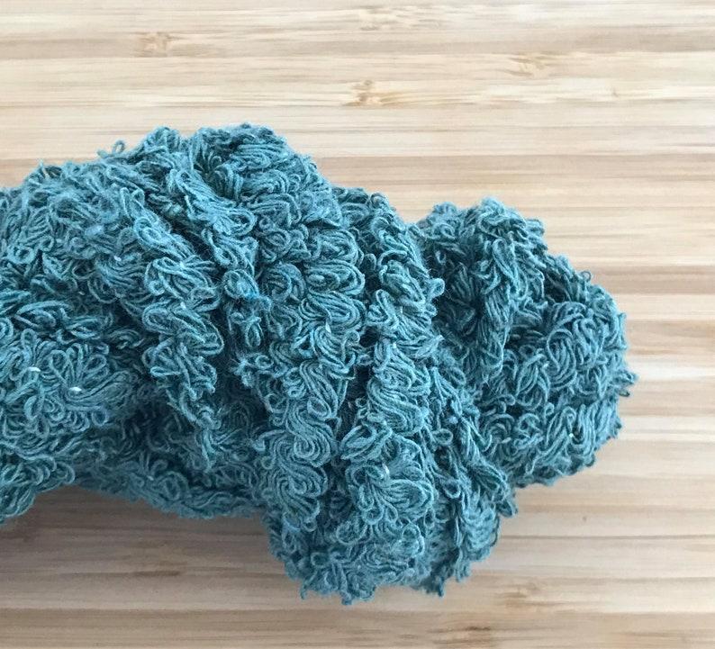 Pine Green Boucle Cotton Yarn