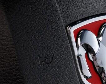 Premium Cast Vinyl Inlay Decals for 2013-2018 RAM 1500 Steering Wheel Emblem