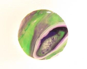 Green & Purple Resin holder/stand, Custom Grip, Gift for Her, Gift For Friend, Gift for Him, Multimedia Holder
